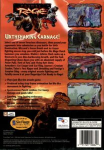 Primal Rage PlayStation Box Back