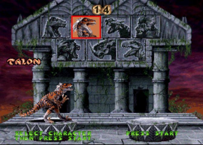 Primal Rage - Player Select