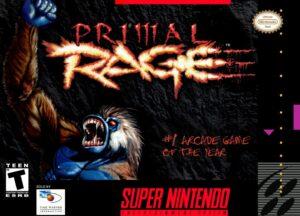 Primal Rage SNES Box