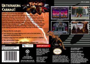 Primal Rage SNES Box Back