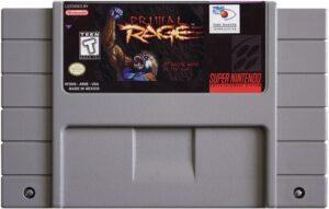 Primal Rage SNES Cartridge