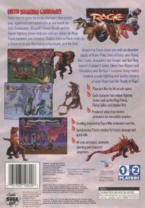 Primal Rage Sega Saturn Box Back