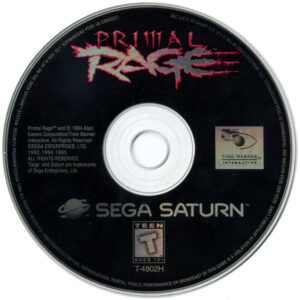 Primal Rage Sega Saturn Disc