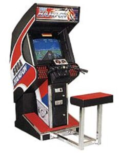 Hang-On Arcade Upright Cabinet With Seat