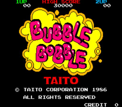 Bubble Bobble - Title Screen