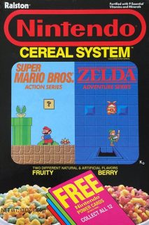 Nintendo Cereal System Box - Cards