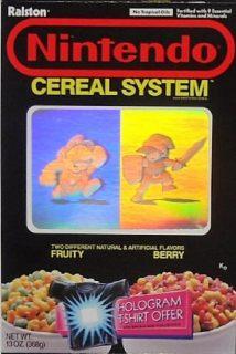 Nintendo Cereal System Box - Hologram