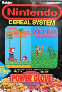 Nintendo Cereal System Box - Power Glove