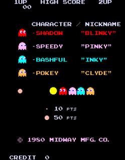 Pac-Man - Intro Screen