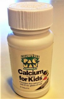 Pac-Man Vitamins Calcium Supplement Bottle