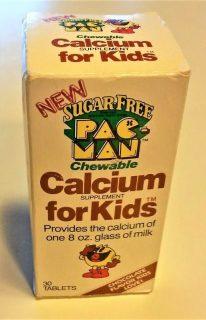 Pac-Man Vitamins Calcium Supplement Box Front