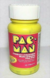Pac-Man Vitamins Children's Chewable Bottle Front