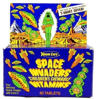 Space Invaders Vitamins Box