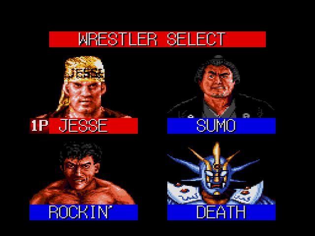 Jesse Ventura Wrestling Superstars Character Select
