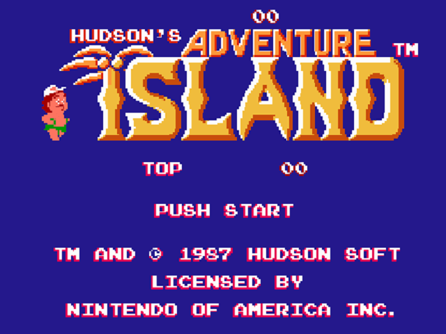 Adventure Island - Title Screen