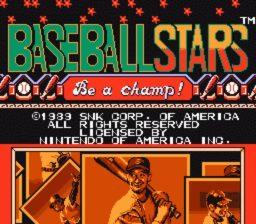 Baseball Stars Title Screen