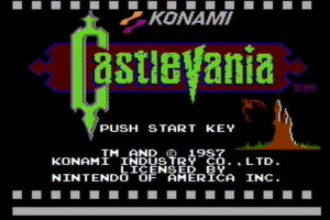 Castlevania Title Screen