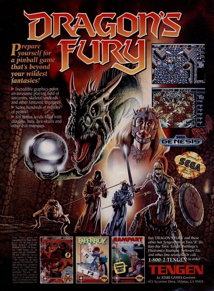 Dragon's Fury Advertisement
