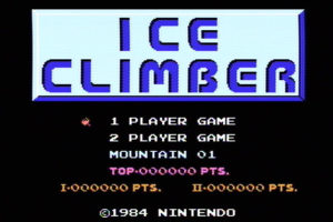 Ice Climber Title Screen