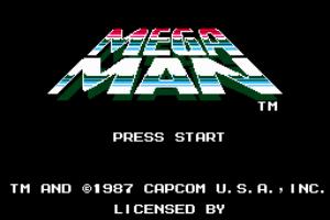 Mega Man Title Screen