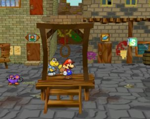 Paper Mario - The Thousand-Year Door Courtyard