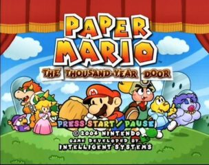 Paper Mario - The Thousand-Year Door Title Screen