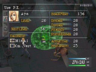 Parasite Eve Selection Screen