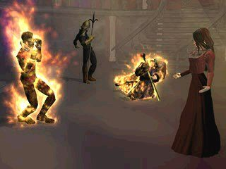 Parasite Eve Set on fire