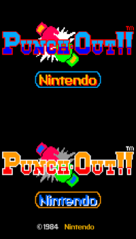 Punch-Out!! Title Screen