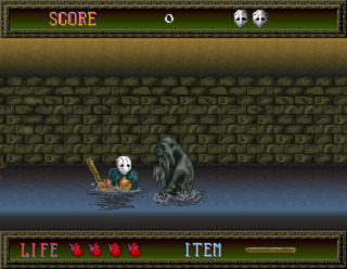 Splatterhouse Fighting In Water