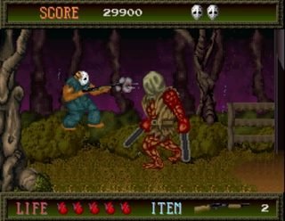 Splatterhouse Shotgun vs chainsaws