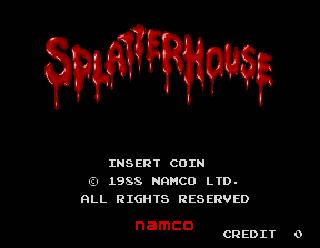 Splatterhouse Title Screen
