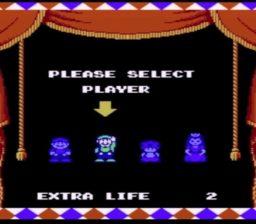 Super Mario Bros 2 Player Select Screen