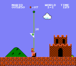 Super Mario Bros Flag Pole