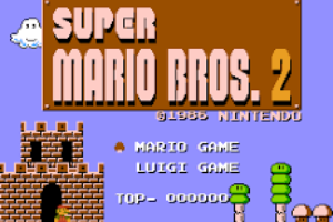 Super Mario Bros The Lost Levels - Title Screen