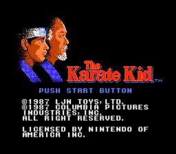 The Karate Kid Title Screen