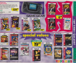 Toys R Us Catalog Sega Game Gear