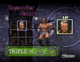 WWF No Mercy Character Select